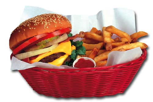 Burger And Fries Basket (1 card/1 envelope) - Blank Card