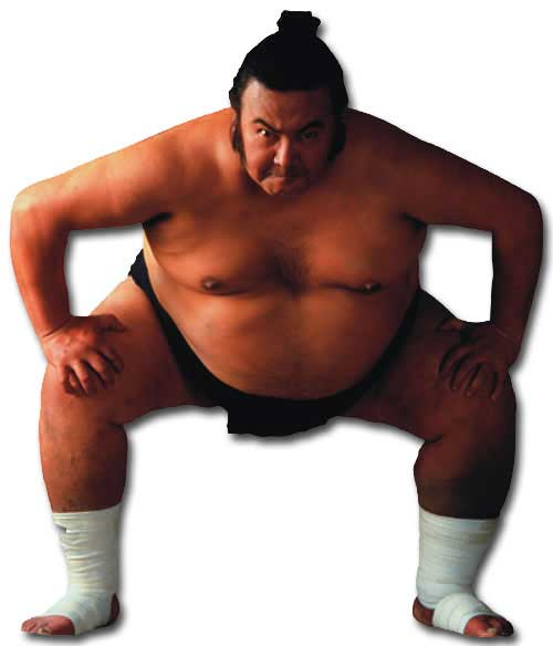 Sumo Wrestler (1 card/1 envelope) Paper House Productions Die Cut Blank Card