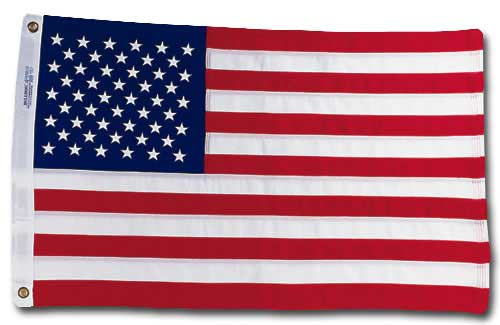 United States Flag (1 card/1 envelope) Paper House Productions Die Cut Blank Card