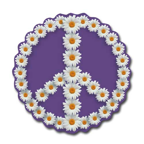 Peace Sign - Oxeye Daisy (1 card/1 envelope) Paper House Productions Die Cut Blank Card