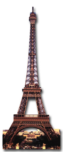 Eiffel Tower (1 card/1 envelope) Paper House Productions Die Cut Blank Card