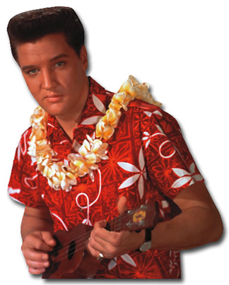 Elvis Presley - Blue Hawaii (1 card/1 envelope) Paper House Productions Die Cut Blank Card