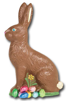 Chocolate Bunny (1 card/1 envelope) Paper House Productions Die Cut Blank Card