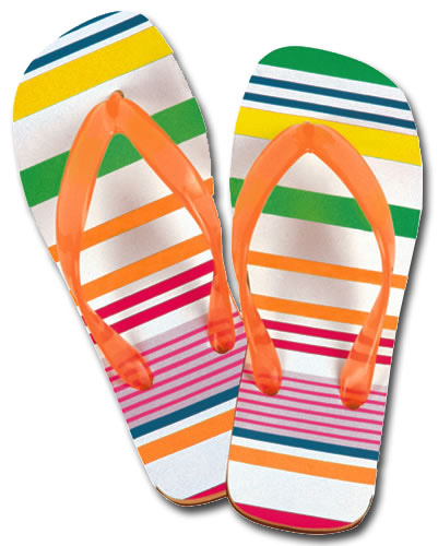 Flip Flops (1 card/1 envelope) Paper House Productions Die Cut Birthday Card  INSIDE: Happy Birthday