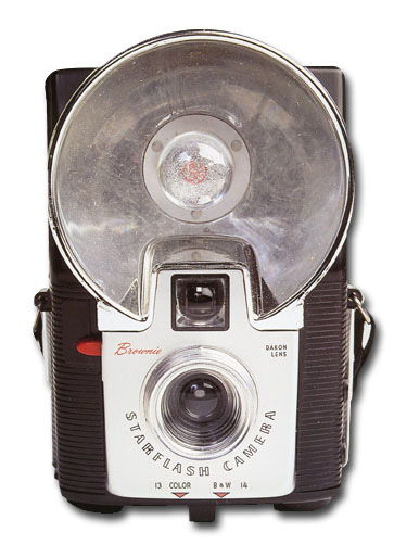 Brownie Camera (1 card/1 envelope) Paper House Productions Die Cut Birthday Card  INSIDE: Smile! It's your birthday!