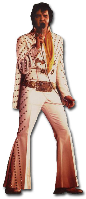 Elvis Presley - The King (1 card/1 envelope) Paper House Productions Die Cut Birthday Card  INSIDE: You Rock! Happy Birthday