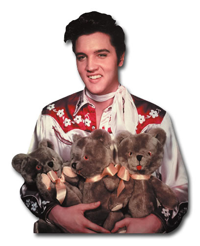 Elvis Presley - Loving You (1 card/1 envelope) Paper House Productions Die Cut Birthday Card  INSIDE: Happy Birthday to my Teddy Bear!