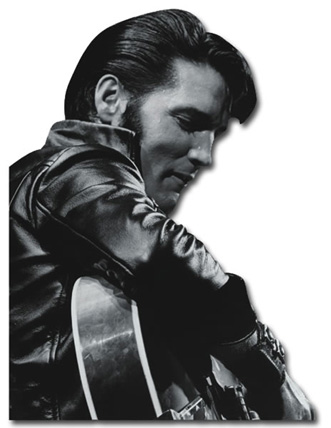 Elvis Presley - Comeback Tour (1 card/1 envelope) Paper House Productions Die Cut Birthday Card  INSIDE: Happy Birthday to a Classic