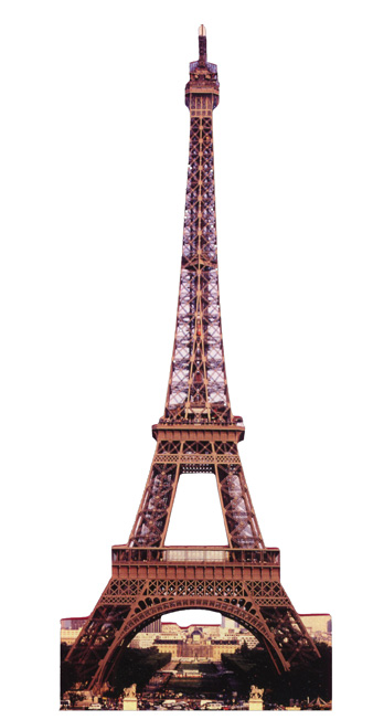 Eiffel Tower (1 card/1 envelope) Paper House Productions Die Cut Birthday Card  INSIDE: happy birthday