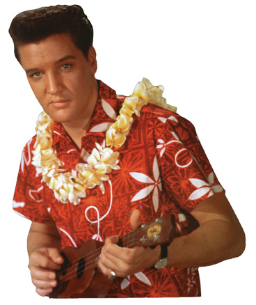 Elvis Presley - Blue Hawaii (1 card/1 envelope) Paper House Productions Die Cut Birthday Card  INSIDE: Hau'oli la Hanau! (Happy Birthday!)