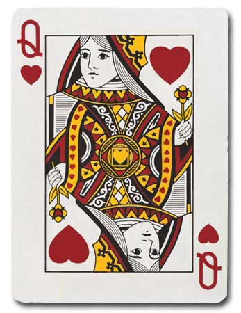 Queen Of Hearts (1 card/1 envelope) Paper House Productions Die Cut Valentine's Day Card  INSIDE: You're my Queen of Hearts