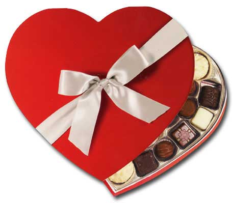 Box Of Chocolates (1 card/1 envelope) - Valentine's Day Card  INSIDE: Happy Valentine's Day  Sweetheart