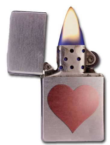 Lighter (1 card/1 envelope) - Valentine's Day Card  INSIDE: you light my fire  Happy Valentine's Day