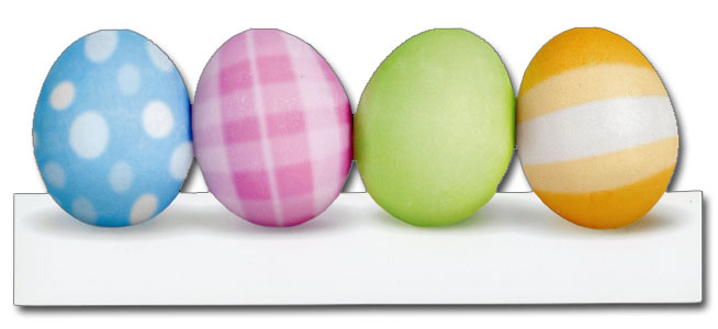 Pastel Easter Eggs (1 card/1 envelope) Paper House Productions Die Cut Easter Card  INSIDE: Happy Easter