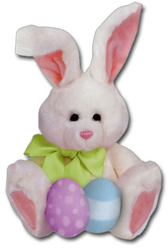 Plush Bunny (1 card/1 envelope) Paper House Productions Die Cut Easter Card  INSIDE: Happy Easter