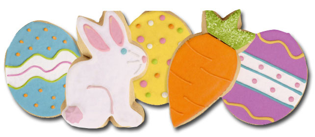Easter Cookies (1 card/1 envelope) Paper House Productions Die Cut Easter Card  INSIDE: you're so sweet   Happy Easter