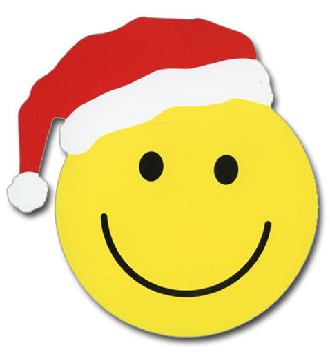 Smiley Face Christmas (1 card/1 envelope) - Christmas Card  INSIDE: have a nice holiday