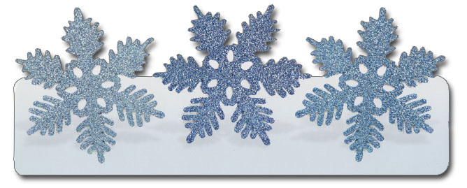 Snowflakes (1 card/1 envelope) Paper House Productions Die Cut Christmas Card  INSIDE: Season's Greetings