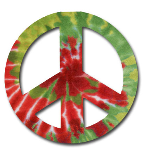 Peace Sign Christmas Die Cut Christmas Card By Paper