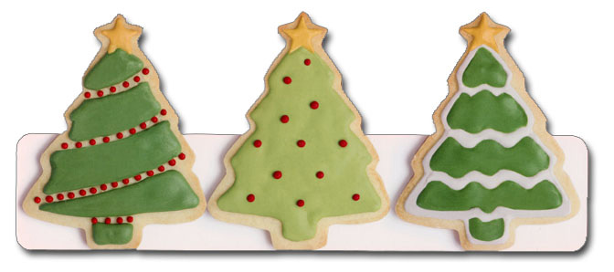 Christmas Tree Cookies (1 card/1 envelope) - Christmas Card  INSIDE: hope your holidays are sweet