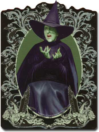 Oz: Wicked Witch (1 card/1 envelope) Paper House Productions Die Cut 3D Blank Card