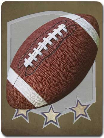 Football (1 card/1 envelope) - Blank Card