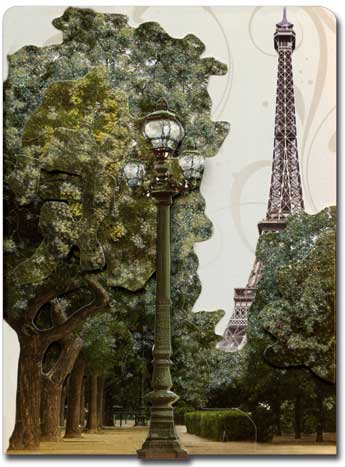 Eiffel Tower (1 card/1 envelope) - Blank Card