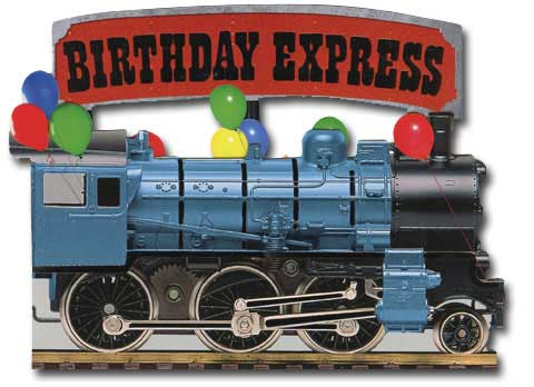 Birthday Express (1 card/1 envelope) - Birthday Card - FRONT: BIRTHDAY EXPRESS  INSIDE: Full steam ahead for a great birthday!
