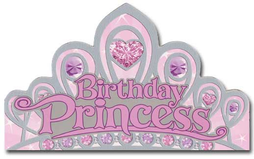 birthday princess  card/ envelope paper house productions die, Birthday card
