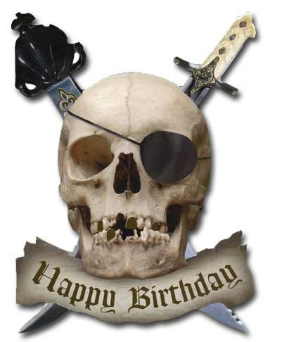 It's Y'Arrr Birthday (1 card/1 envelope) - Birthday Card - FRONT: Happy Birthday  INSIDE: It be y'arrr birthday� hope it's a great one!
