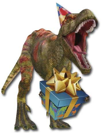 Birthday Dinosaur (1 card/1 envelope) - Birthday Card  INSIDE: Happy Birthday hope it's dino-mite!