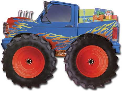 Monster Truck (1 card/1 envelope) - Birthday Card  INSIDE: Hope your birthday is X-Treme!