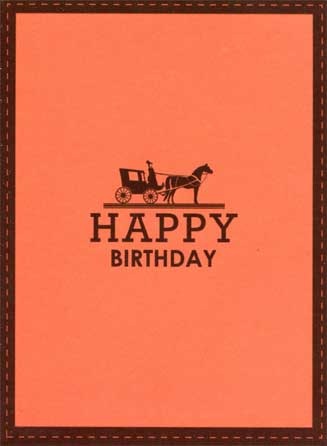 Happy Birthday (1 card/1 envelope) - Birthday Card - FRONT: Happy Birthday  INSIDE: Hey Stop Horsing Around - Saddle Up - It's time to Party