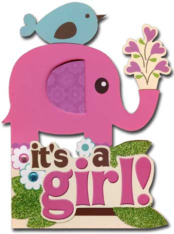 It's a Girl (1 card/1 envelope) - New Baby Card - FRONT: it's a girl!  INSIDE: Congratulations