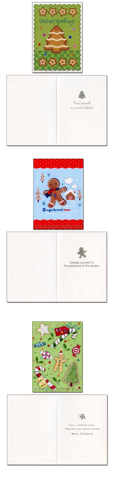 Bakery Keepsake Assortment (21 cards & 21 envelopes) Paper Magic Group Boxed Christmas Cards - FRONT: various  INSIDE: various