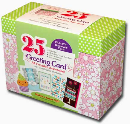 25 Assorted All Occasion Embellished Greeting Cards Paper Magic Boxed Assorted Greeting Cards