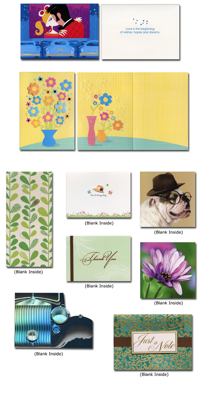 Box Of 25 Assorted All Occasion Embellished Greeting Cards