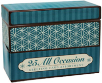 25 Assorted All Occasion Embellished Greeting Cards - Boxed Assorted Greeting Cards