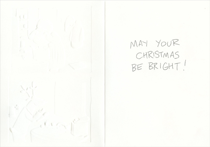 White Strips & Bright Strips (18 cards/18 envelopes) Paper Magic Funny Boxed Christmas Cards - FRONT: Teeth White Strips  Nose Brite Strips  INSIDE: May your Christmas be bright!
