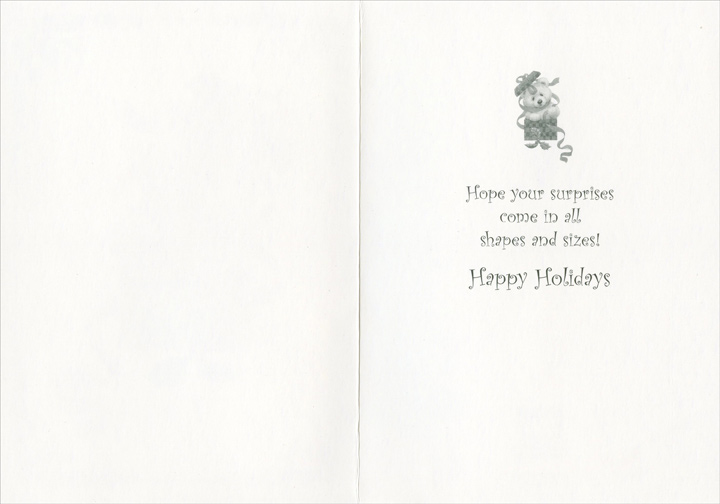 Teddy Bear in Present Ruth Morehead Holiday Card by Paper Magic