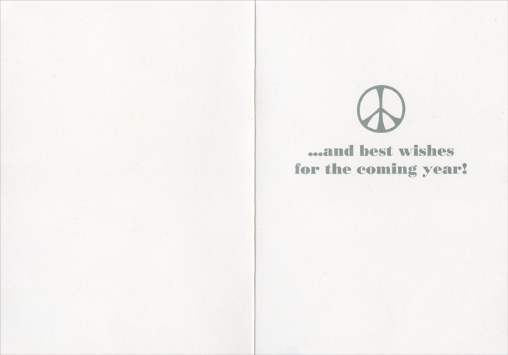 Scooby Peace (1 card/1 envelope) Paper Magic Christmas Card - FRONT: Peace  INSIDE: �and best wishes for the coming year!