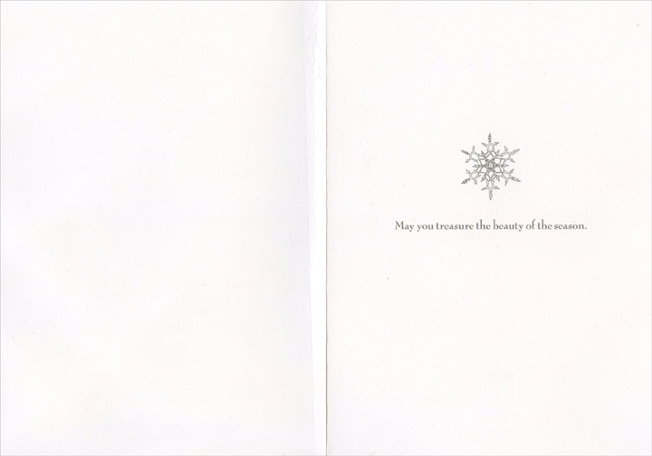Winter Bench (1 card/1 envelope) - Christmas Card - FRONT: Winter Wishes  INSIDE: May you treasure the beauty of the season.