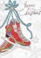 Ice Skates (16 cards/16 envelopes) Paper Magic Boxed Christmas Cards
