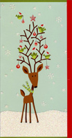 Big Antlers Reindeer (6 cards/6 envelopes) - Christmas Money/Gift Card Holders  INSIDE: Have a fun-filled holiday!