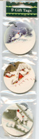 9 Vintage Painting Christmas Gift Tags with String
