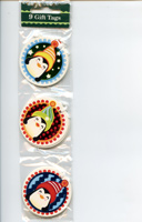 9 Playful Penguins Christmas Gift Tags with String