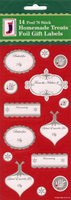 18 A Touch of Class Foil Peel 'n Stick Baking Label Christmas Gift Tags