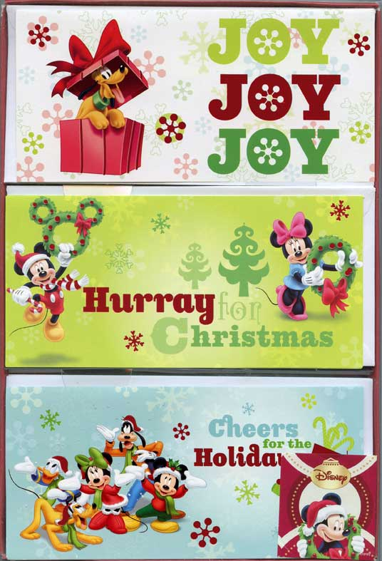 Disney Assortment (12 cards/12 envelopes) Paper Magic Disney Boxed Christmas Cards