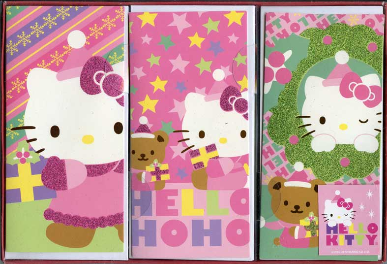 Hello Kitty Assortment (12 cards/12 envelopes) Paper Magic Hello Kitty Boxed Christmas Cards