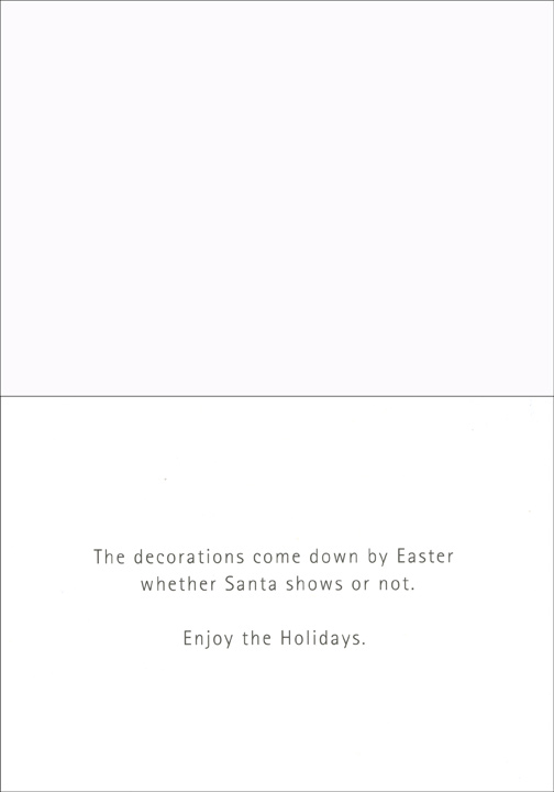 Santas late funny christmas card by paper magic inside m4hsunfo
